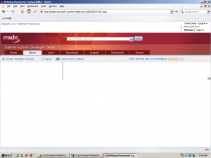 """Screen capture of Microsoft's """"Defining Document Compatibility"""" page in the Opera Web browser"""